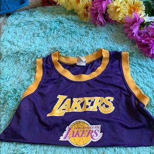 Tops - 5 for 20❗️❗️ vintage Lakers crop top jersey